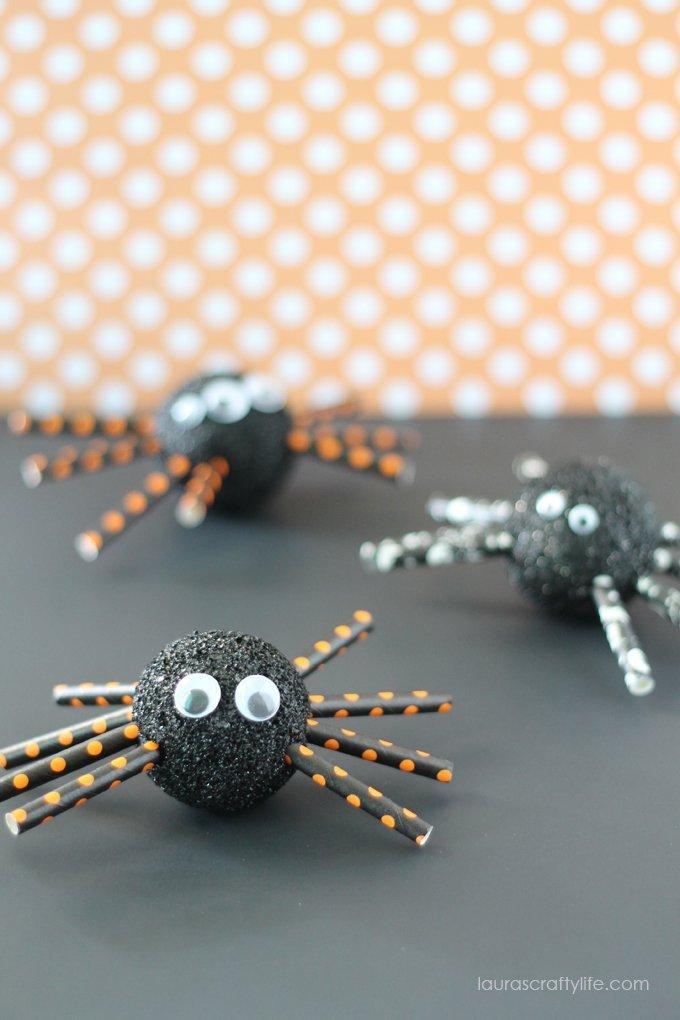 Foam Halloween Spiders - Laura's Crafty Life
