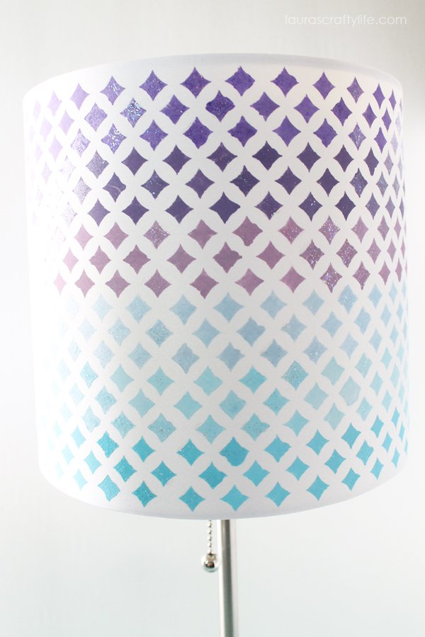 Mod Podge Stencil - Starlite Ombre Painted Lampshade