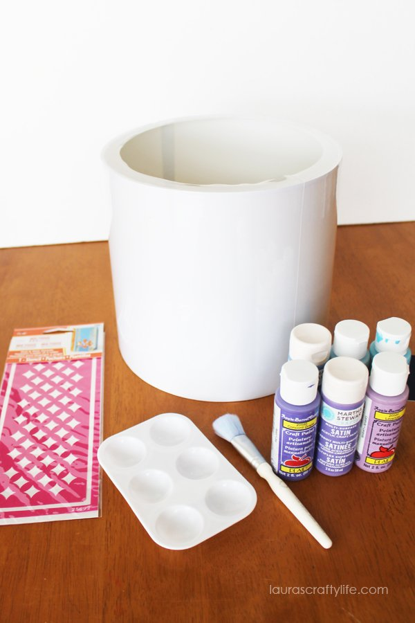 Supplies needed for stenciled lampshade