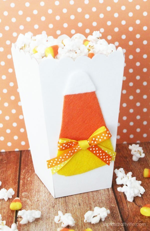 candy corn popcorn box
