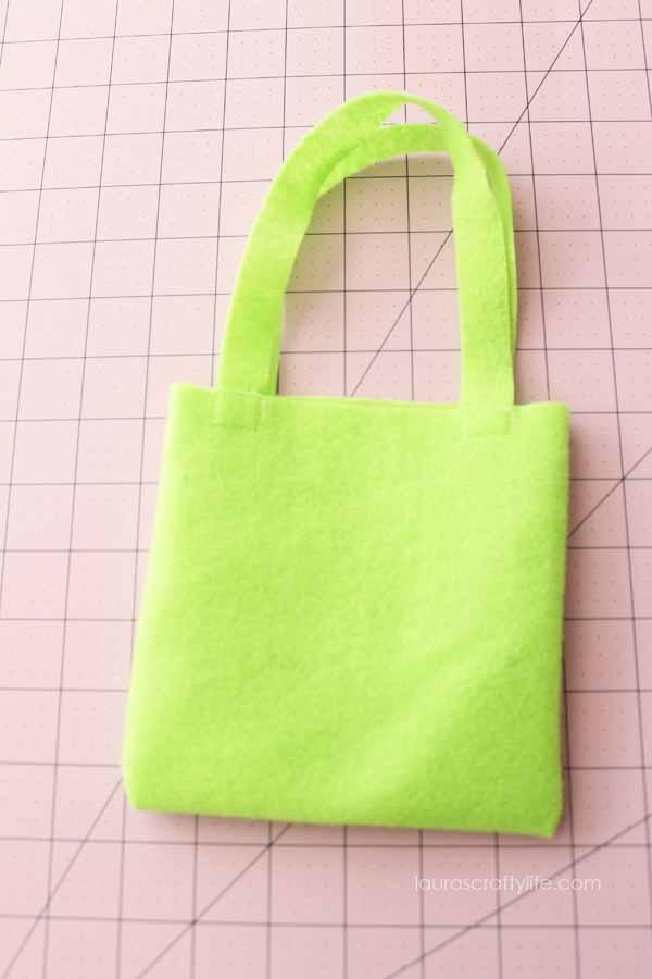 Completed felt bag to make princess tutu bags