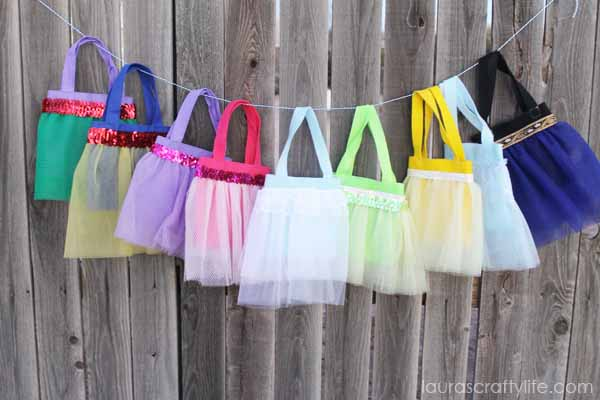 Disney Princess tutu bags tutorial - Laura's Crafty Life