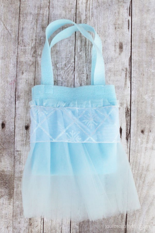 Elsa princess tutu bag tutorial