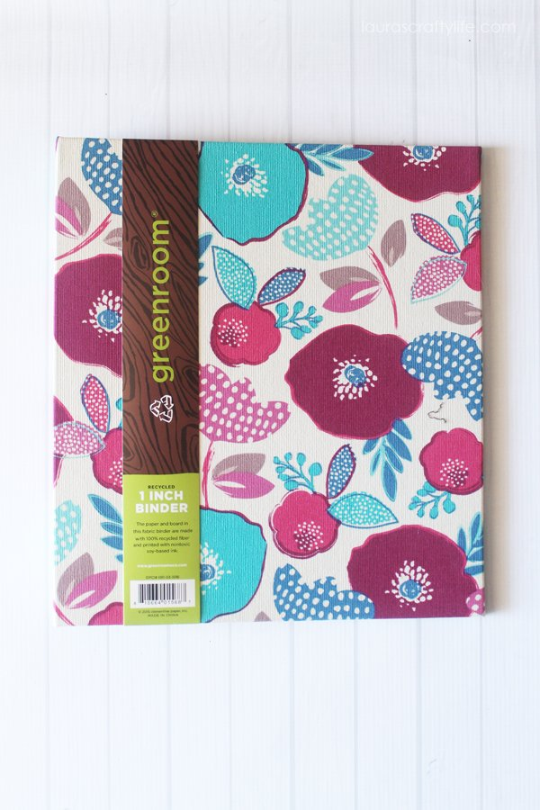 Greenroom Target binder for Organize Your Holiday