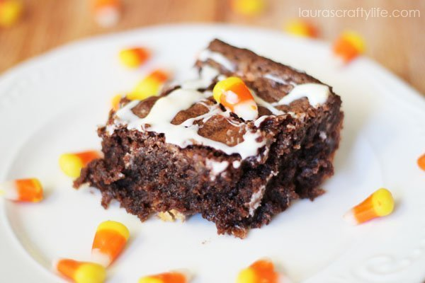 Halloween Candy Corn Brownies