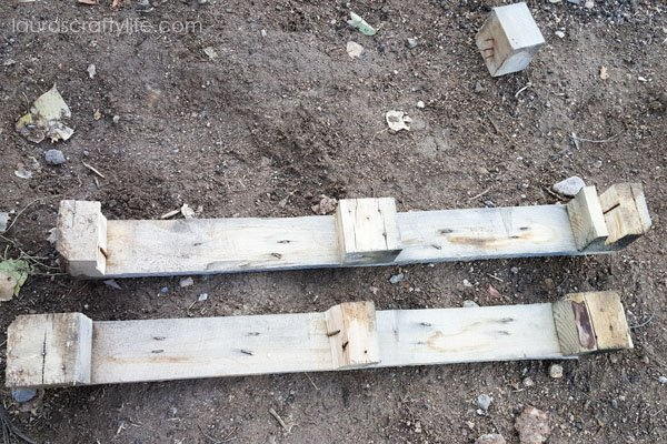 Middle section of pallet