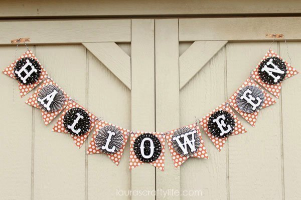 October Halloween Banner - Laura's Crafty Life