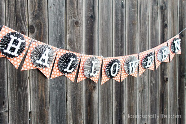 October polka dot Halloween banner