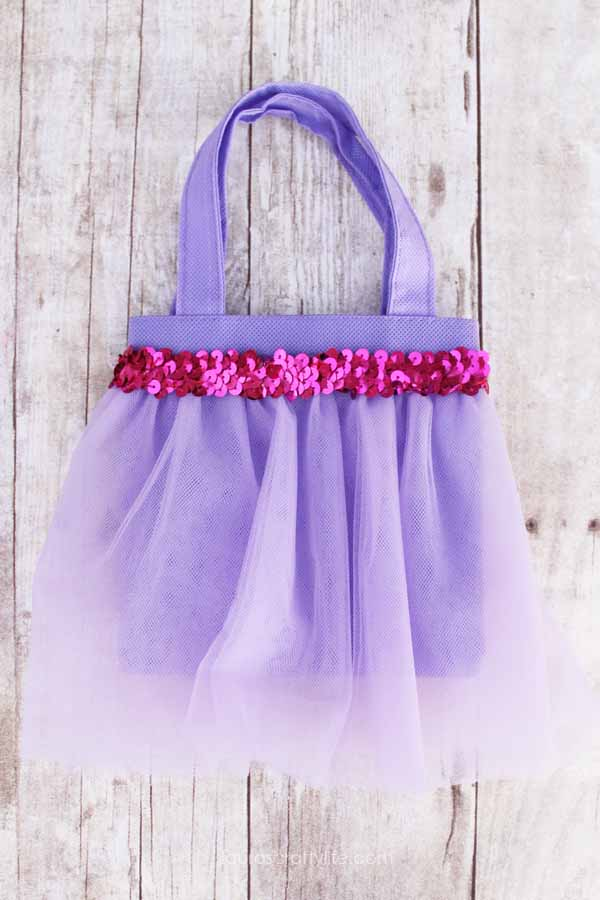 Rapunzel princess tutu bag tutorial