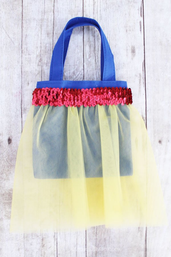 Snow White princess tutu bag tutorial