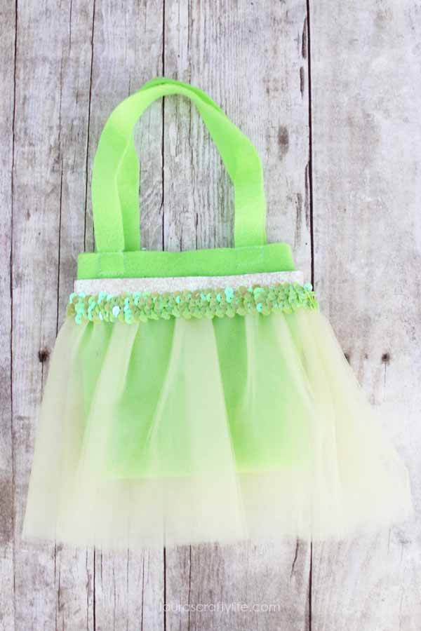 Tiana princess tutu bag tutorial