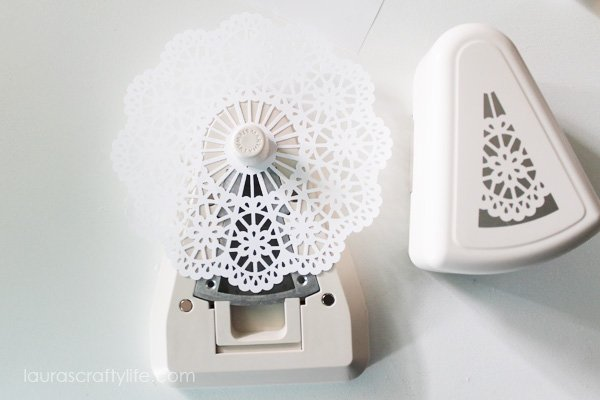 Completed doily using Martha Stewart doily punch kit