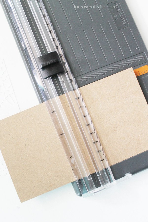 Cut and score kraft card stock