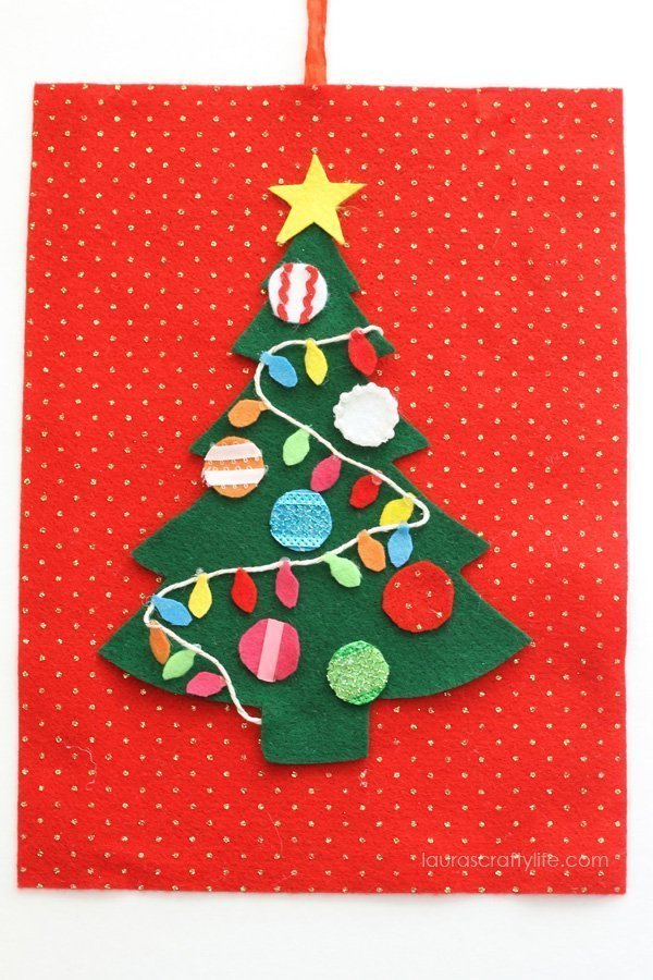 Felt Christmas Tree Activity for Kids - Laura's Crafty Life