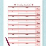 Free printable holiday card list