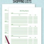 Free printable Black Friday shopping list and Cyber Monday shopping list