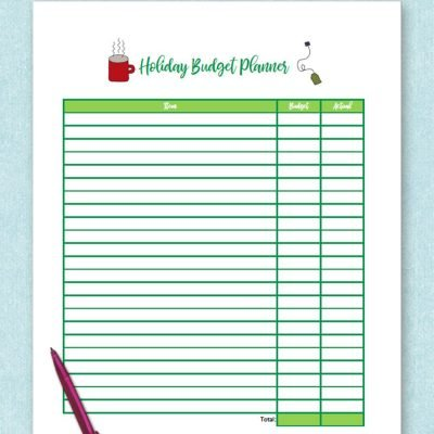 Free printable Organize Your Holidaiy budget planner. Get organized for the holidays and stay debt free with a holiday budget. #holiday #budget #freeprintable #laurascraftylife