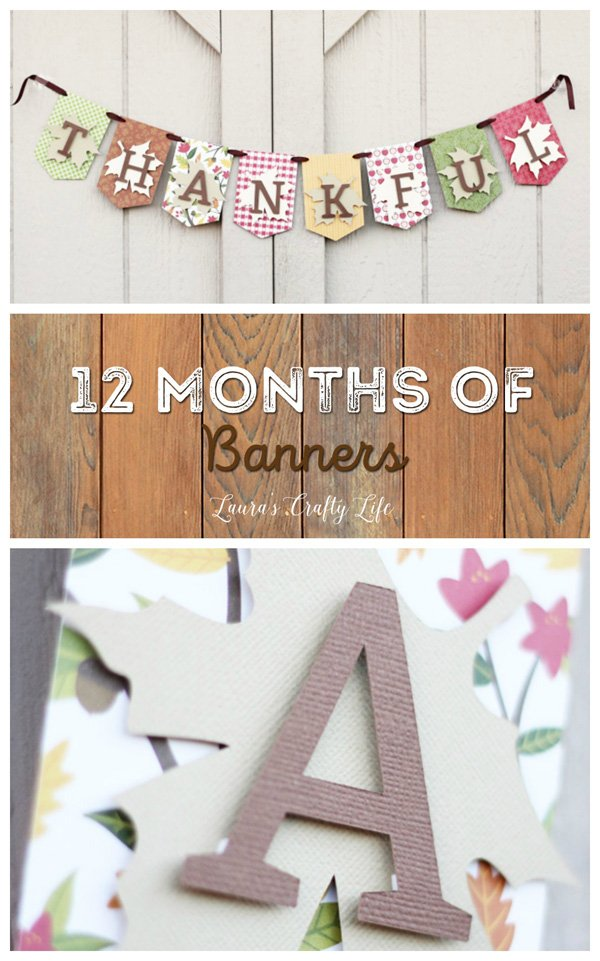 Reversible November Thanksgiving Banner - 12 Months of Banners