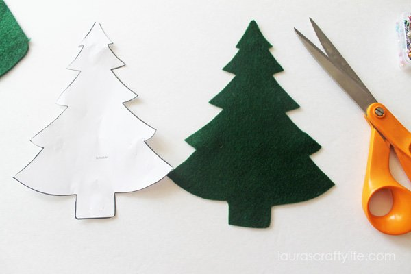 Tree cut out from felt