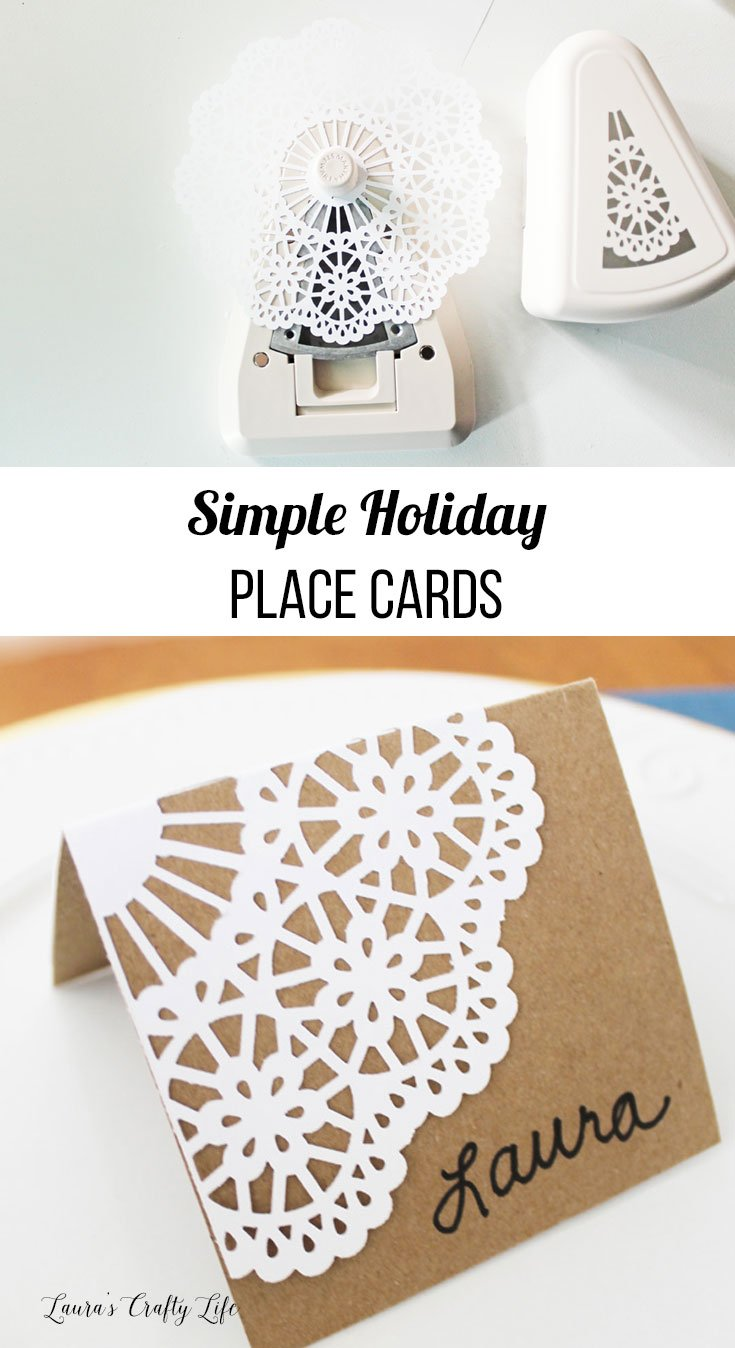 simple holiday place cards