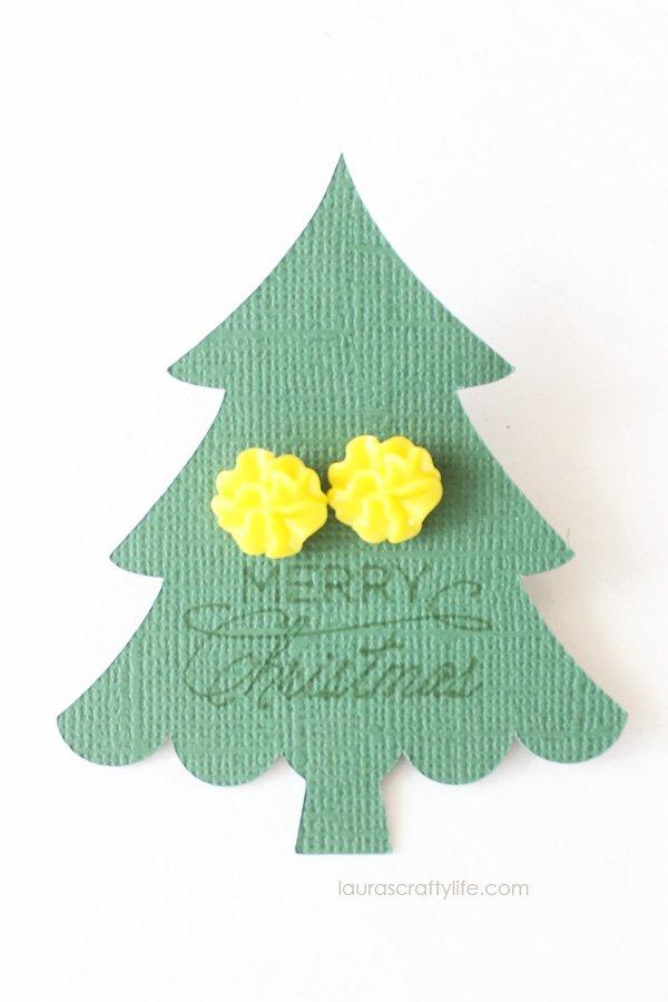 Christmas tree earring holder