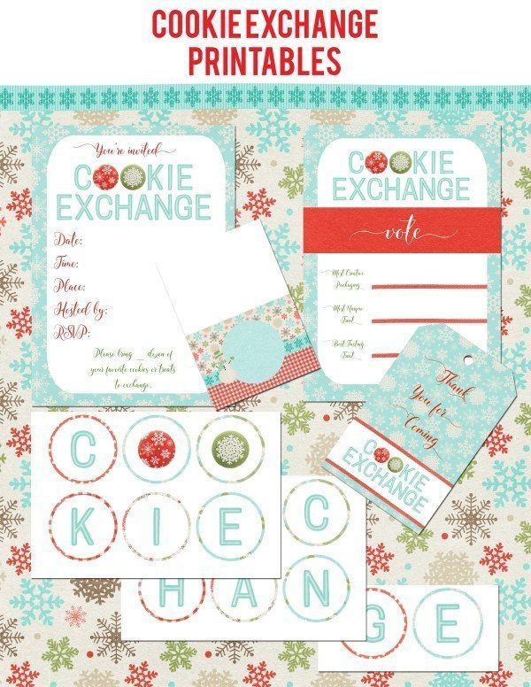 Cookie Exchange Printables
