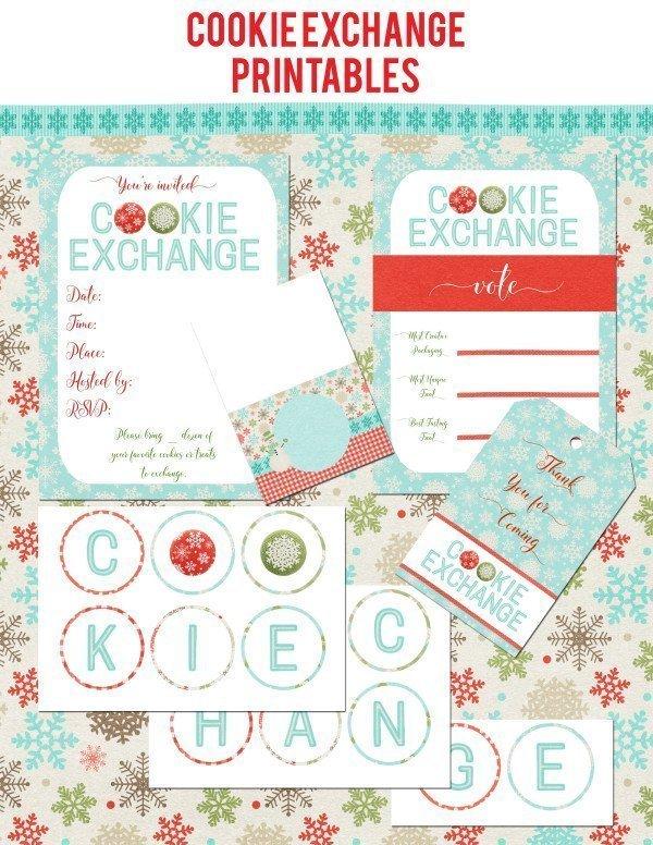 Cookie Exchange Printables