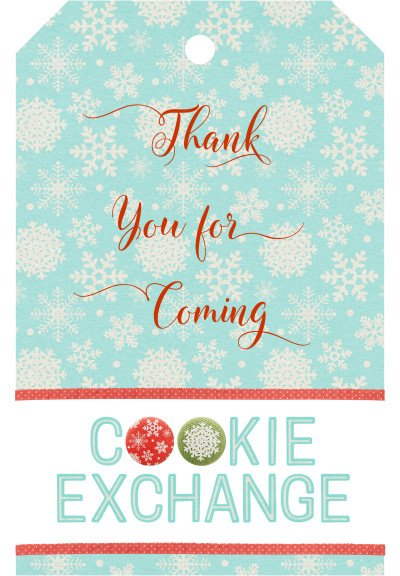 Cookie Exchange Thank You Tag