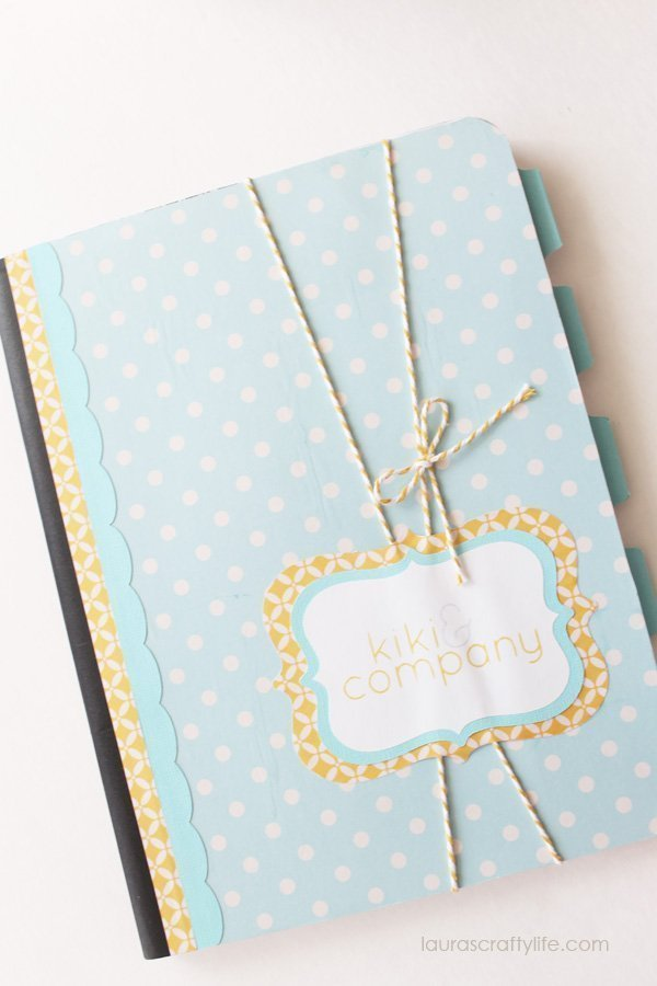 Embellished composition notebook gift made with Cricut Explore