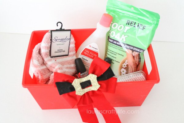 Foot spa gift basket