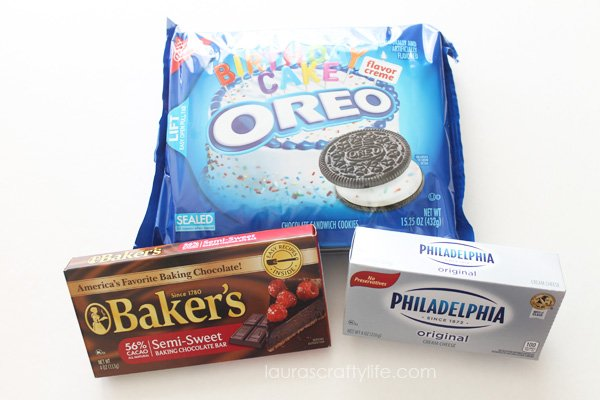 Ingredients for OREO Cookie Balls