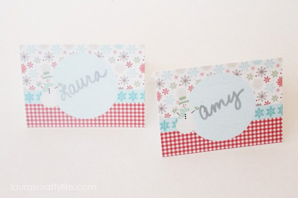 Table tent labels for cookie exchange