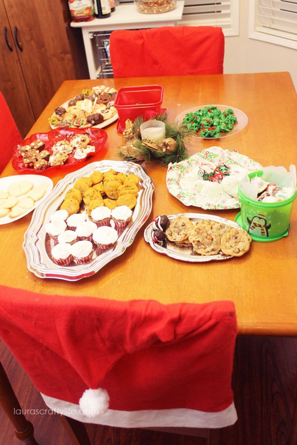 Treat table at cookie exchange