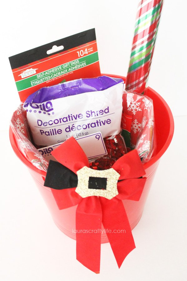 Wrapping supplies gift basket