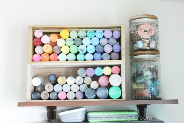 Acrylic paint storage