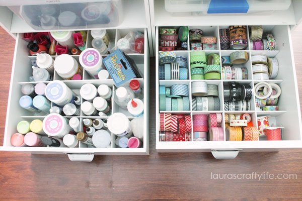Adhesive and washi tape storage