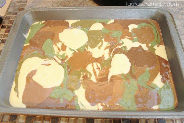 Camouflage Cake batter