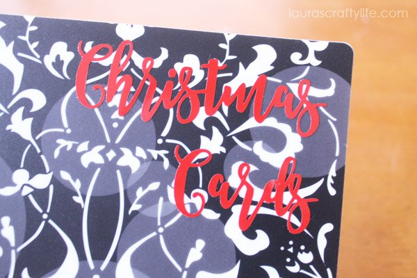 Christmas cards vinyl with Cricut