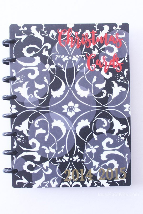 Christmas Card binder notebook