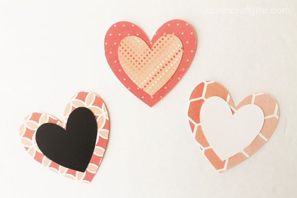 Heart Bookmarks - Laura's Crafty Life