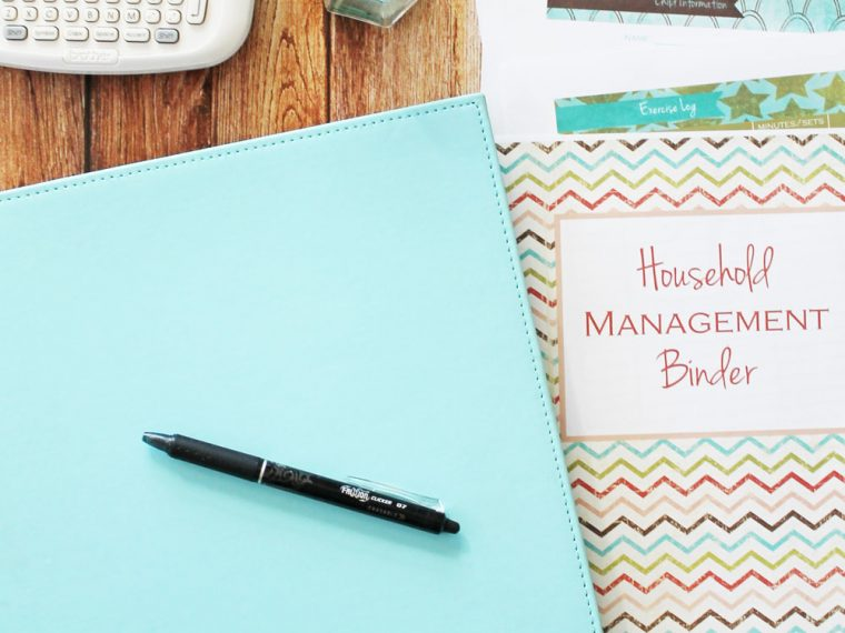 How to set up a Home Management Binder