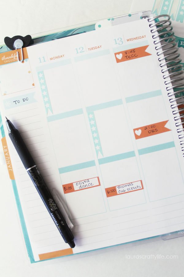 Make Your Own Erin Condren planner stickers with the Cricut
