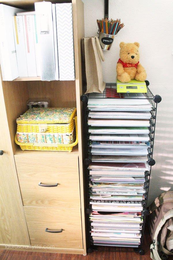 Paper storage cart