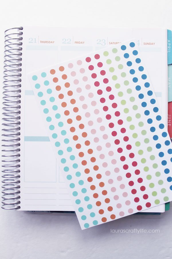 Planner Dots Cricut Cut File