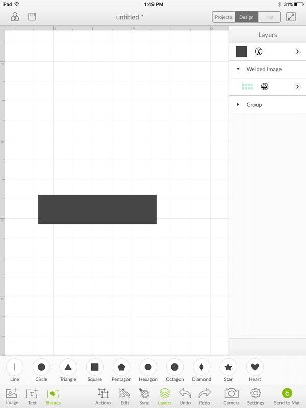 Resize square to a rectangle