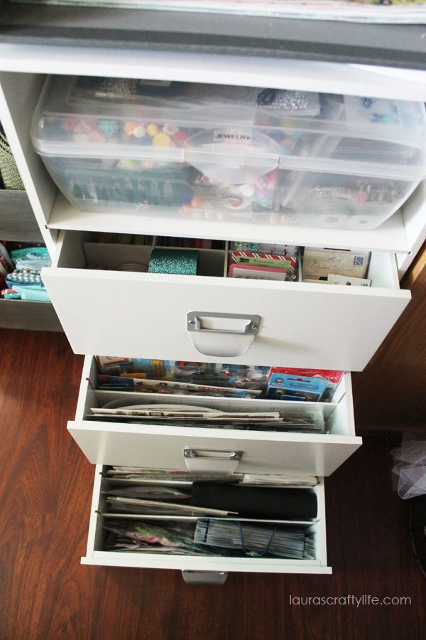Scrapbook embellishment storage