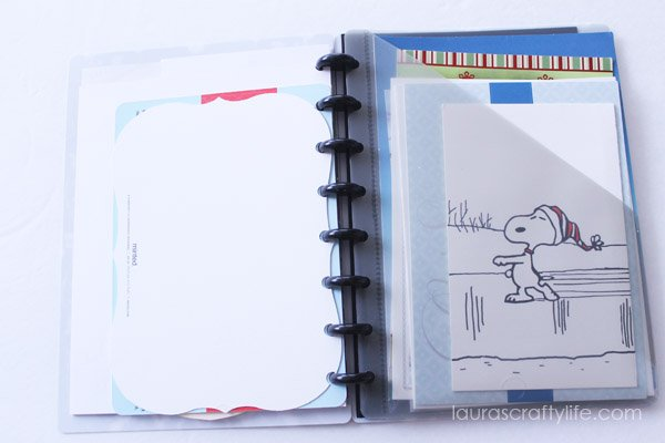 Divider pocket for non-photo cards
