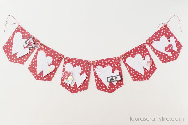 February Heart Banner - Laura's Crafty Life
