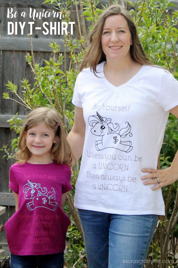 Be a Unicorn DIY T-Shirt - easily make this shirt in minutes with the Cricut Explore