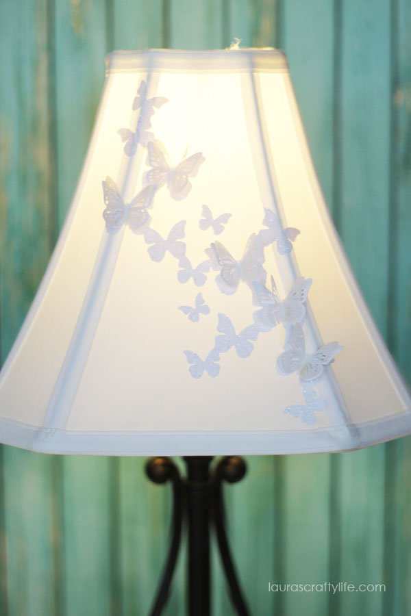 Butterfly Lampshade made with the Cricut Explore